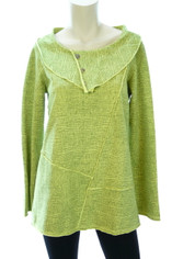 Color Me Cotton CMC Tunic in Tonal Citrus Green