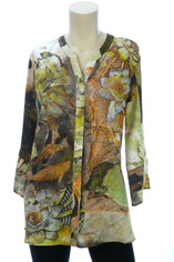 Autumn Memories Silk Blouse by Dressori