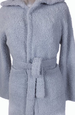 1Blue Barefoot Dreams Youth CozyChic Cover Up/Robe in Softly Blue Gray