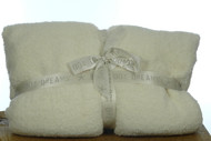 Barefoot Dreams CozyChic Twin Blanket in Ivory $98.00 CLEARANCE SALE