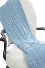 Cable Knit Throw in Bluebells