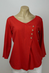 Color Me Cotton Supmia Cotton Samantha Top in Red on Sale