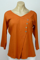 Color Me Cotton CMC Supima Cotton Samantha Top in Tangerine on Sale