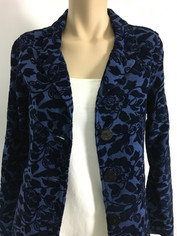 COLOR ME COTTON CMC Tapestry Jacket in Tone on Tone Blue  CLEARANCE
