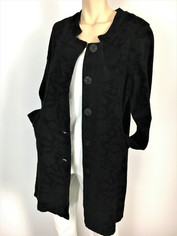 COLOR ME COTTON Tapestry Coat in Black Clearance Medium