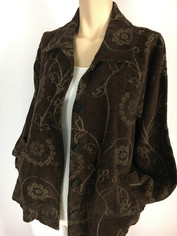 COLOR ME COTTON CMC Tapestry Jacket in Black Clearance