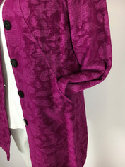 COLOR ME COTTON CMC Tapestry Coat in Orchid Clearance