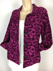 COLOR ME COTTON CMC Tapestry Jacket in Magenta Orchid Clearance Sale