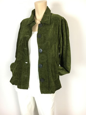 COLOR ME COTTON CMC Tapestry Jacket in Pine Needle Green Clearance Price