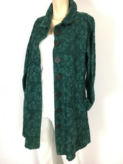 COLOR ME COTTON CMC Tapestry Coat in Spruce Green Last One XSmall Clearance Price