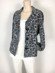 COLOR ME COTTON CMC Tapestry Jacket in Steel Grey Blue