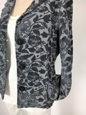 Steel Blue Gray COLOR ME COTTON CMC Tapestry Jacket  Clearance