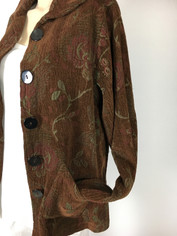 COLOR ME COTTON CMC Tapestry Jacket in Chocolate Brown Last One Size Small/Medium Clearance