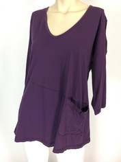 Color Me Cotton CMC Supima Rosie Tunic Top in Royal Purple