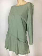 Color Me Cotton CMC Supima Cotton Tunic Top in Seaglass Green