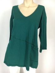 Color Me Cotton Supima Rosie Tunic Top in Rain Forest Green