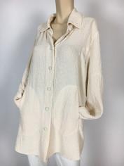 URU Clothing Silk Tuscan Shirt in Buttermilk (fits L - 1X) SALE