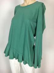 Color Me Cotton CMC Supima Cotton Mary Top in Green Dreams Last One XLargeSale