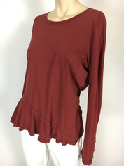 Color Me Cotton CMC Supima Mary Top in Deep Red last one Medium Sale