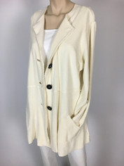 Color Me Cotton CMC So Soft Sheepy Fleece Jacket in Ivory Last One size XL Clearance