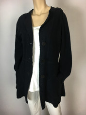 Color Me Cotton So Soft Sheepy Fleece Jacket in Black Clearance
