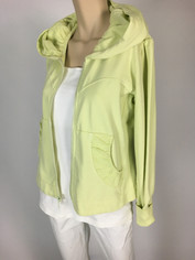 Color Me Cotton CMC French Terry Alana Hoodie Jacket in Key Lime