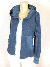 Color Me Cotton CMC French Terry Alana Hoodie Jacket Tonal Medium Denim