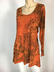 Color Me Cotton CMC Supima Camille Morrocan Print Top in Setting Sun  Small