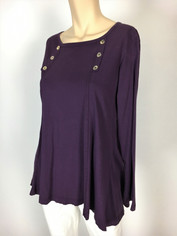 Color Me Cotton CMC Supima Laurie Top in Deep Purple