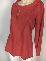 Color Me Cotton French Terry Pullover in Cherry Red