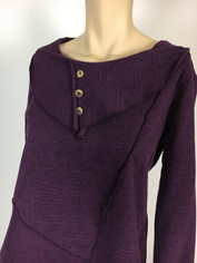 Color Me Cotton CMC French Terry Pullover Top in Purple