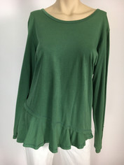 Color Me Cotton CMC Mary Top in Basil  Last One in XLarge Sale