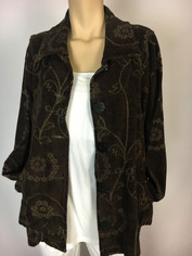 Tapestry Jacket in Coffee by CMC Color Me Cotton  Size Large