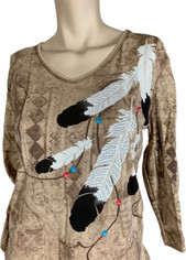 Eagle Feathers Top  by Cactus Bay