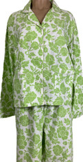 Spring Green Print Flannel PJ set by Pine Cone Hill  XLarge