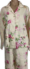 English Roses Flannel PJ set by Pine Cone Hill