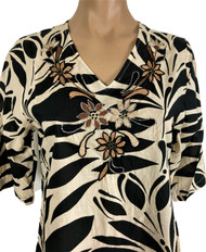 Embroidered Bold Print Dress,/Cover-up