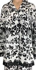 Black on White Print Cotton Pajama Set