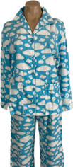 Happy Cloud Dreams Bamboo Cotton Flannel Pajamas Set