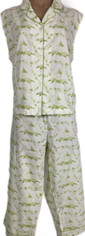 Cool and Fresh Cotton Capri Pajama Set  by Pine Cone Hill XLarge