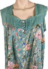 Handprint Long Sleeveless Nightgown  Small