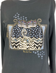Polka Dot Cats Top from Laurel Burch