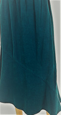 Teal Blue Tencel Midi Skirt by Tianello   Medium