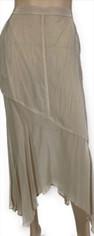 Ecru Silky Midi Skirt by CMC Click