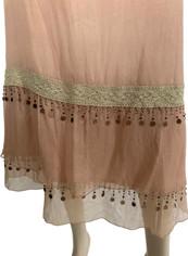 Joni Gossamer Silk Skirt in Apricot  Size 8