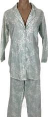 Pine Cone Hill Cherry Blossom Pajamas Seaglass Green  Small