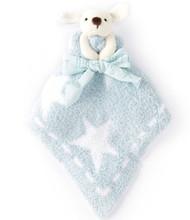 Blue Barefoot Dreams Cozy Buddies Mini Baby Blankie