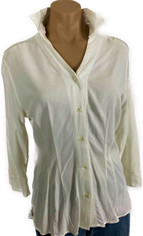 Ivory Classic Kelly Shirt in Finest Tencel by Tianello  Large
