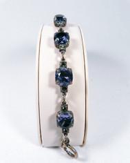 La Vie Parisienne Silver Sparking 7 Stone Cyrstal Bracelet in Tanzanite