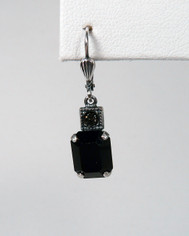 La Vie Parisienne Oblong Drop Earring Jet Black Crystal